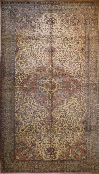 R3717 Vintage Persian Kerman Carpet