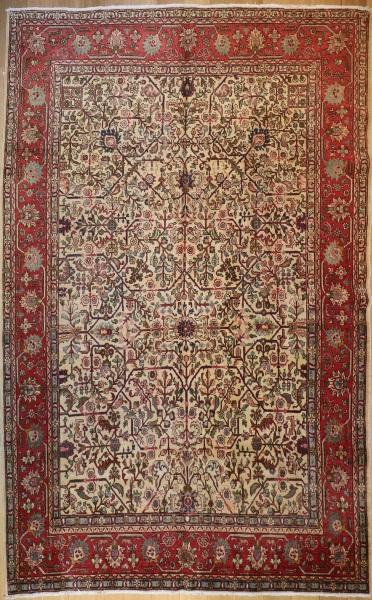 R3222 Vintage Persian Tabriz Carpet