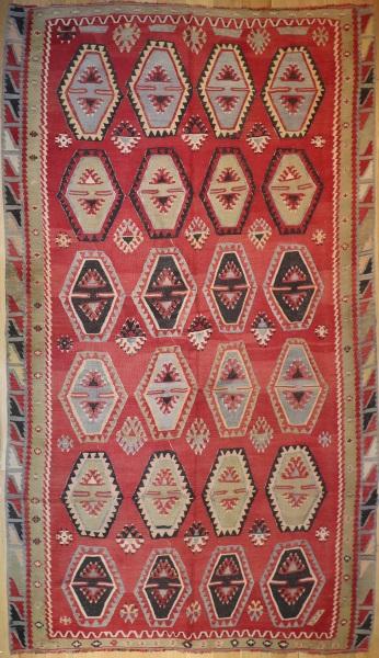 R7629 Vintage Sarkisla Kilim Rug