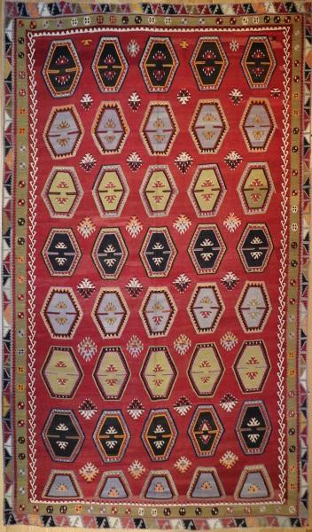 R5846 Vintage Sarkisla Turkish Kilim Rug