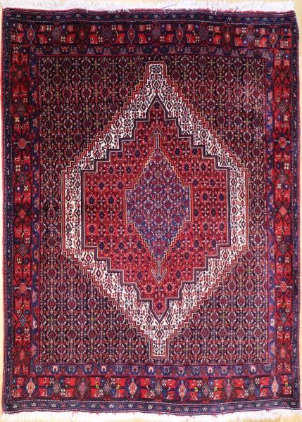 R9399 Vintage Senneh Persian Rug