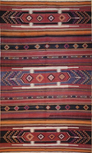 R5055 Vintage Sivas Turkish Kilim