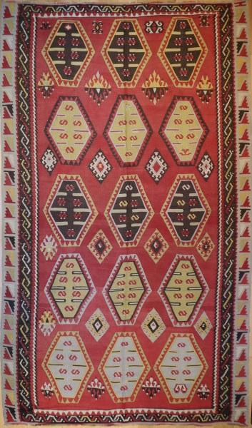 R5847 Vintage Sivas Turkish Kilim Rug