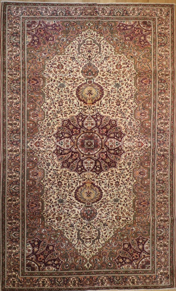 R8600 Vintage Tabriz Persian Carpet
