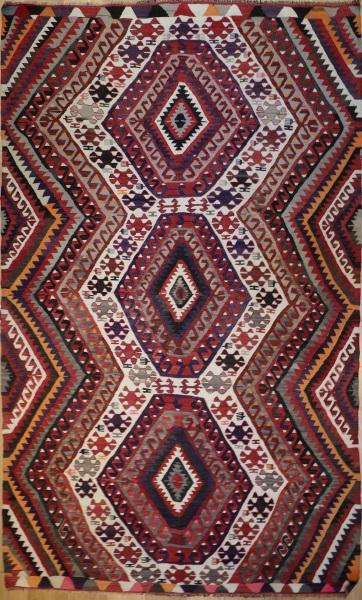 R7173 Vintage Turkish Antalya Kilim Rug