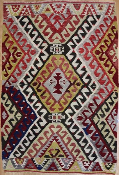 R7882 Vintage Turkish Antalya Kilim Rug