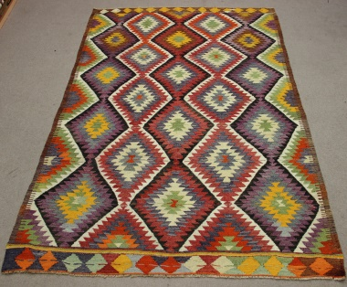 R8701 Vintage Turkish Antalya Kilim Rug