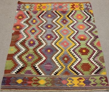 Vintage Turkish Antalya Kilim Rug R8714
