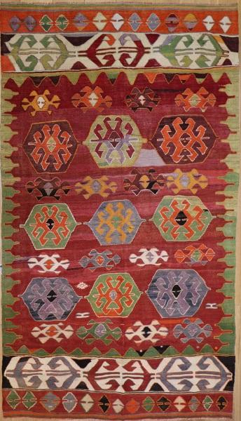 R9074 Vintage Turkish Cal Kilim Rugs