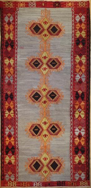R5575 Vintage Turkish Emirdag Kilim Rug