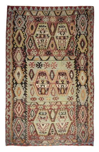 R6323 Vintage Turkish Esme Kilim Rug