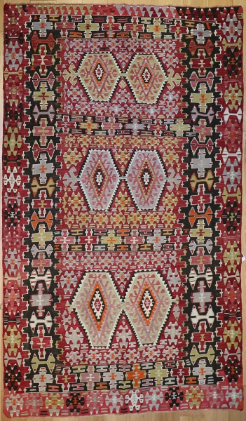 R8727 Vintage Turkish Esme Kilim Rug