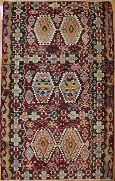 Vintage Turkish Esme Kilim Rug