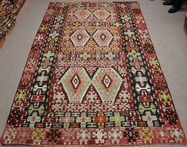 Vintage Turkish Esme Kilim Rug R8727