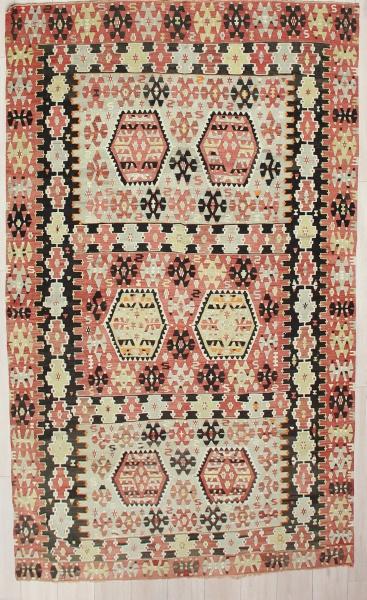 R9073 Vintage Turkish Esme Kilim Rugs