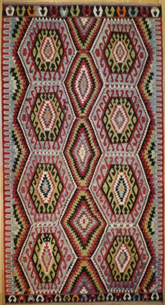 R9086 Vintage Turkish Esme Kilim Rugs