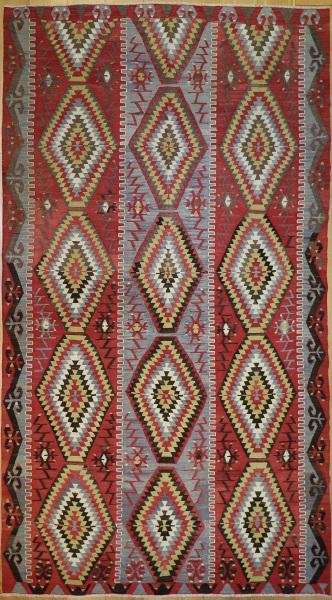 R9089 Vintage Turkish Esme Kilim Rugs
