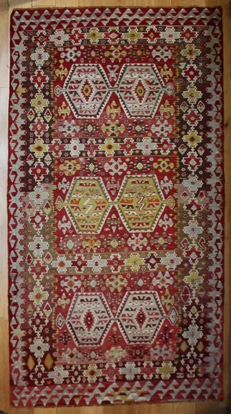 R8216 Vintage Turkish Esme Kilim Rugs