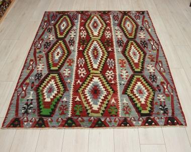 R9071 Vintage Turkish Esme Kilim Rugs