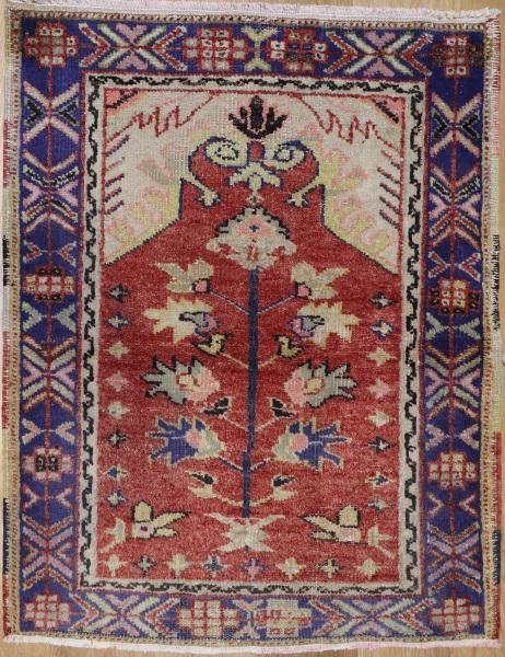 R7651 Vintage Turkish Gordes Rug