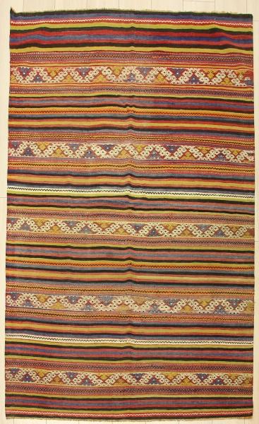 R7472 Vintage Turkish Handwoven Balikesir Cicim Kilim Rug