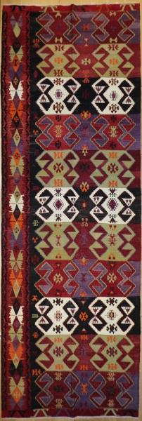 R7673 Vintage Turkish Kilim