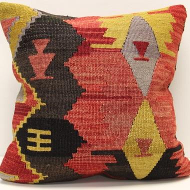 M912 Vintage Turkish Kilim Cushion Cover