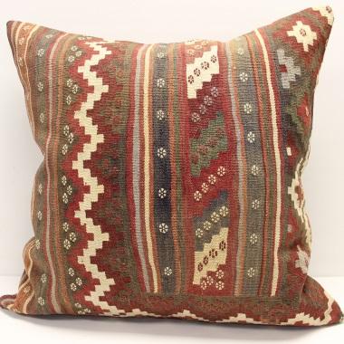 XL335 Vintage Turkish Kilim Pillow Covers