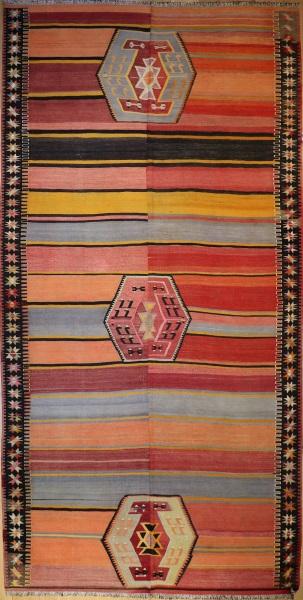 R4160 Vintage Turkish Kilim Rug