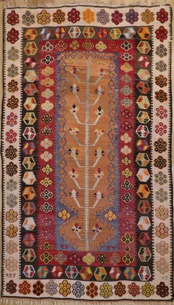 R9401 Vintage Turkish Kilim Rug