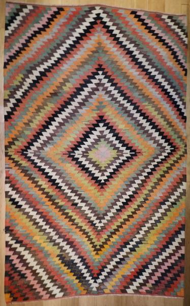 R6427 Vintage Turkish Kilim Rug