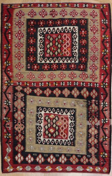 R6608 Vintage Turkish Kilim Rug