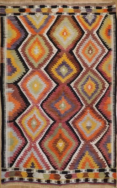 R6822 Vintage Turkish Kilim Rug