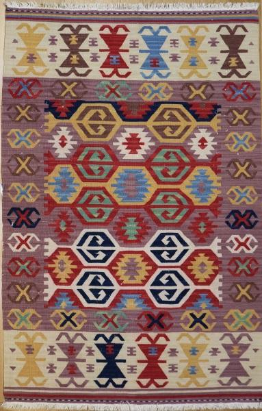 R6904 Vintage Turkish Kilim Rug