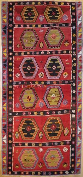 R7341 Vintage Turkish Kilim Rug