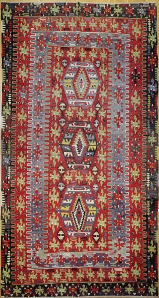 R8028 Vintage Turkish Kilim Rug