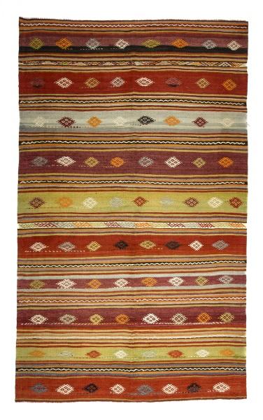 R8172 Vintage Turkish Kilim Rug