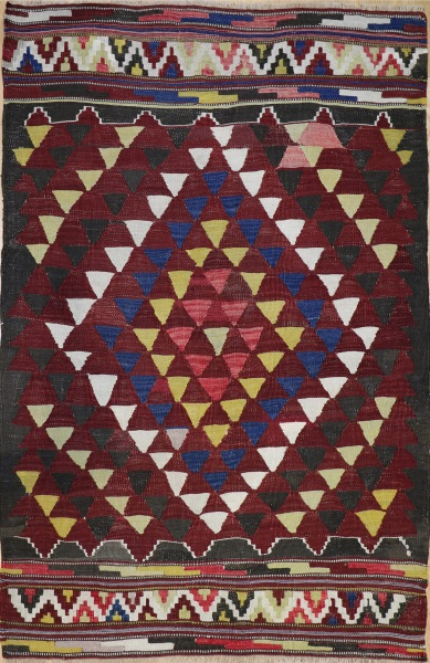 R8179 Vintage Turkish Kilim Rug