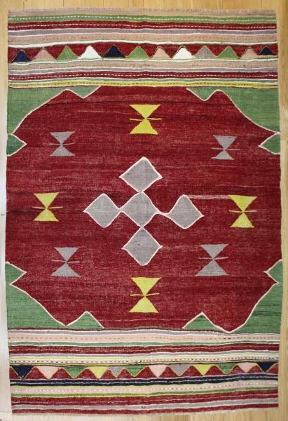 R8185 Vintage Turkish Kilim Rug