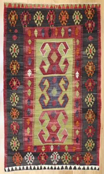 R8187 Vintage Turkish Kilim Rug