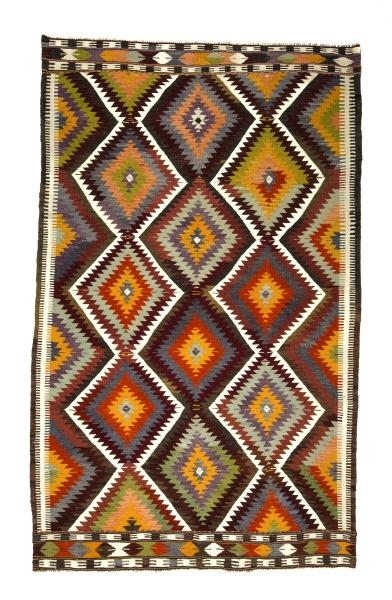 R8225 Vintage Turkish Kilim Rug
