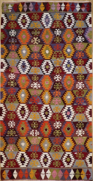 R8491 Vintage Turkish Kilim Rug