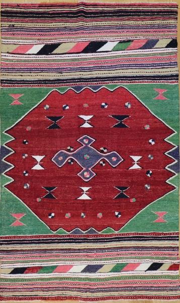 R8499 Vintage Turkish Kilim Rug