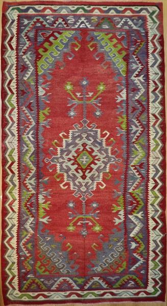 R8508 Vintage Turkish Kilim Rug