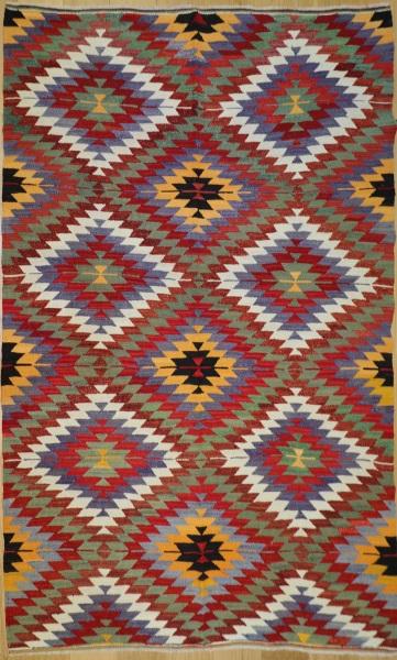 R8509 Vintage Turkish Kilim Rug