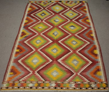 R8511 Vintage Turkish Kilim Rug