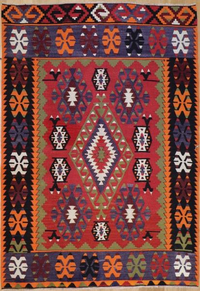 R8513 Vintage Turkish Kilim Rug
