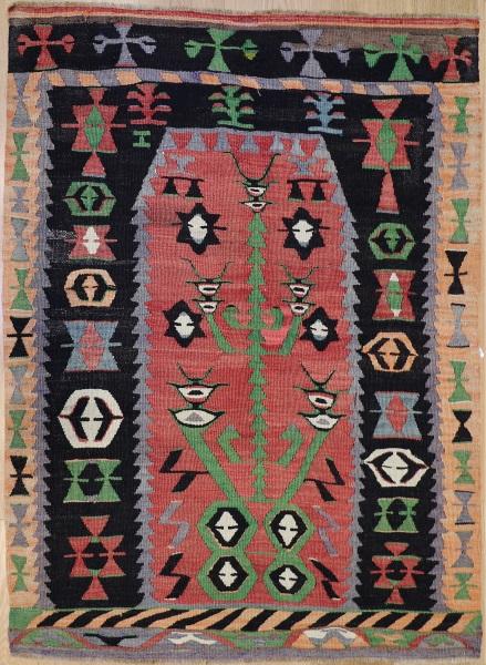 R8624 Vintage Turkish Kilim Rug