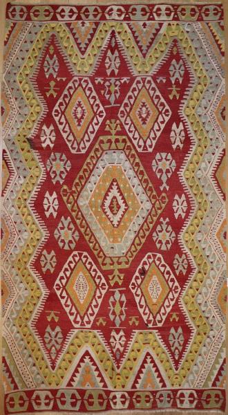 R8705 Vintage Turkish Kilim Rug