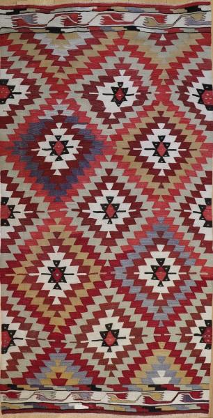 R8708 Vintage Turkish Kilim Rug